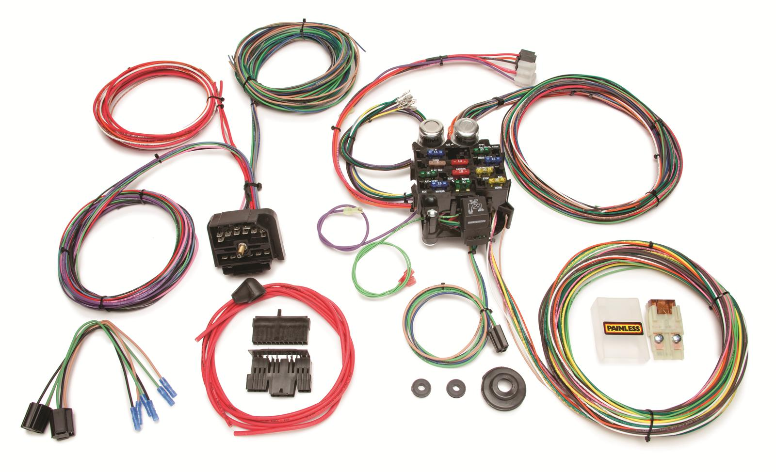 painless performance 22 circuit jeep cj harnesses 10106 free rh summitracing com cj7 painless wiring harness cj7 painless wiring harness diagram