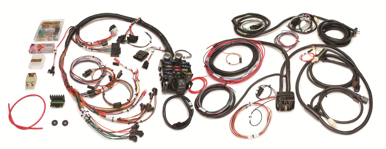 painless performance circuit direct fit jeep cj harnesses  painless performance 21 circuit direct fit jeep cj harnesses 10110 shipping on orders over 99 at summit racing