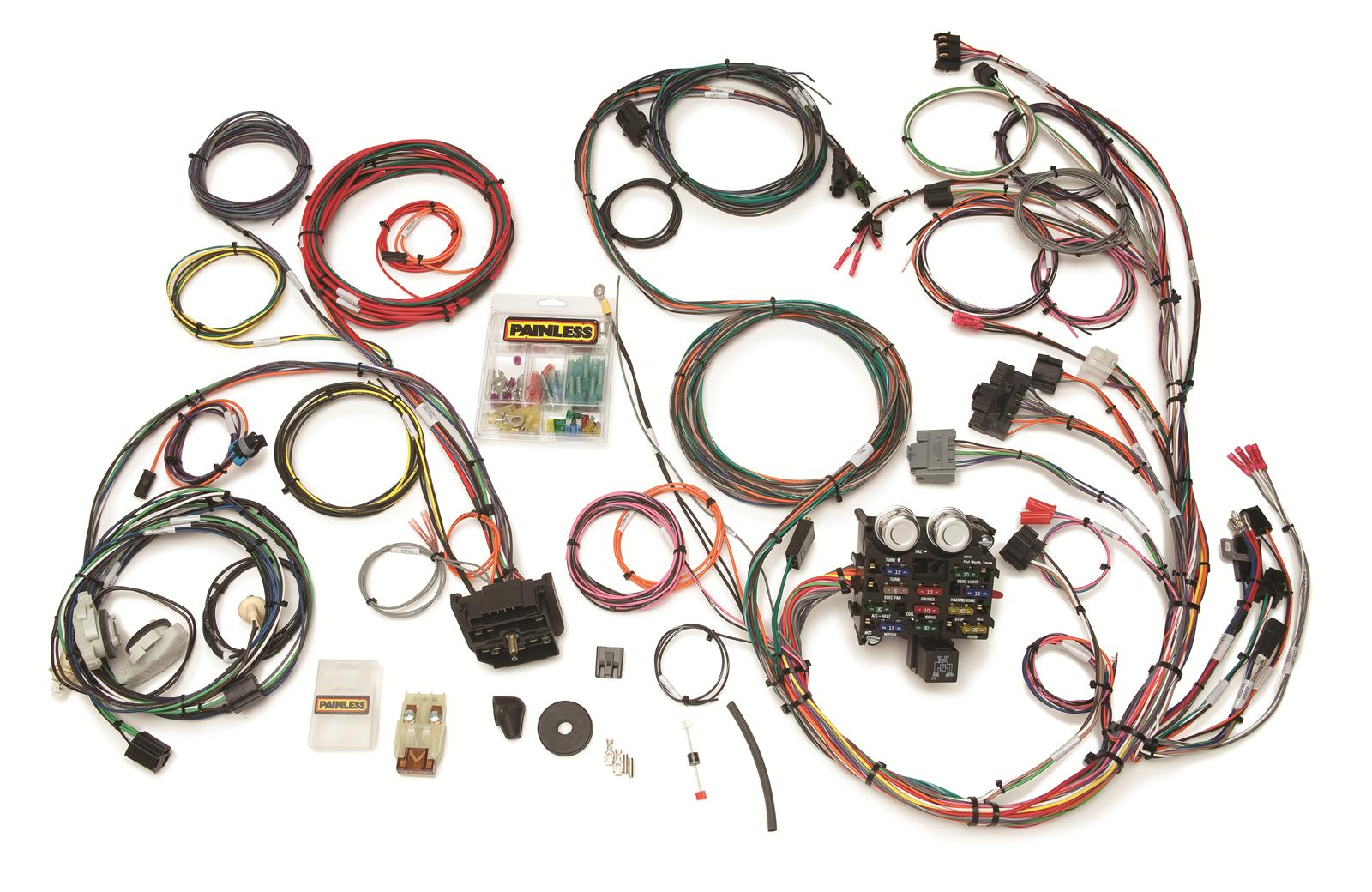 Painless Performance 23 Circuit Direct Fit Jeep Yj Harnesses 10111 Wiring Harness Connectors Free Shipping On Orders Over 99 At Summit Racing