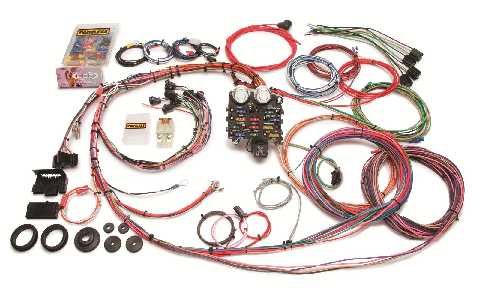 Painless Wiring Harness Kit Real Diagram 1972 Nova Wire 10112 12 Circuit Dash For 1966 Chevelle