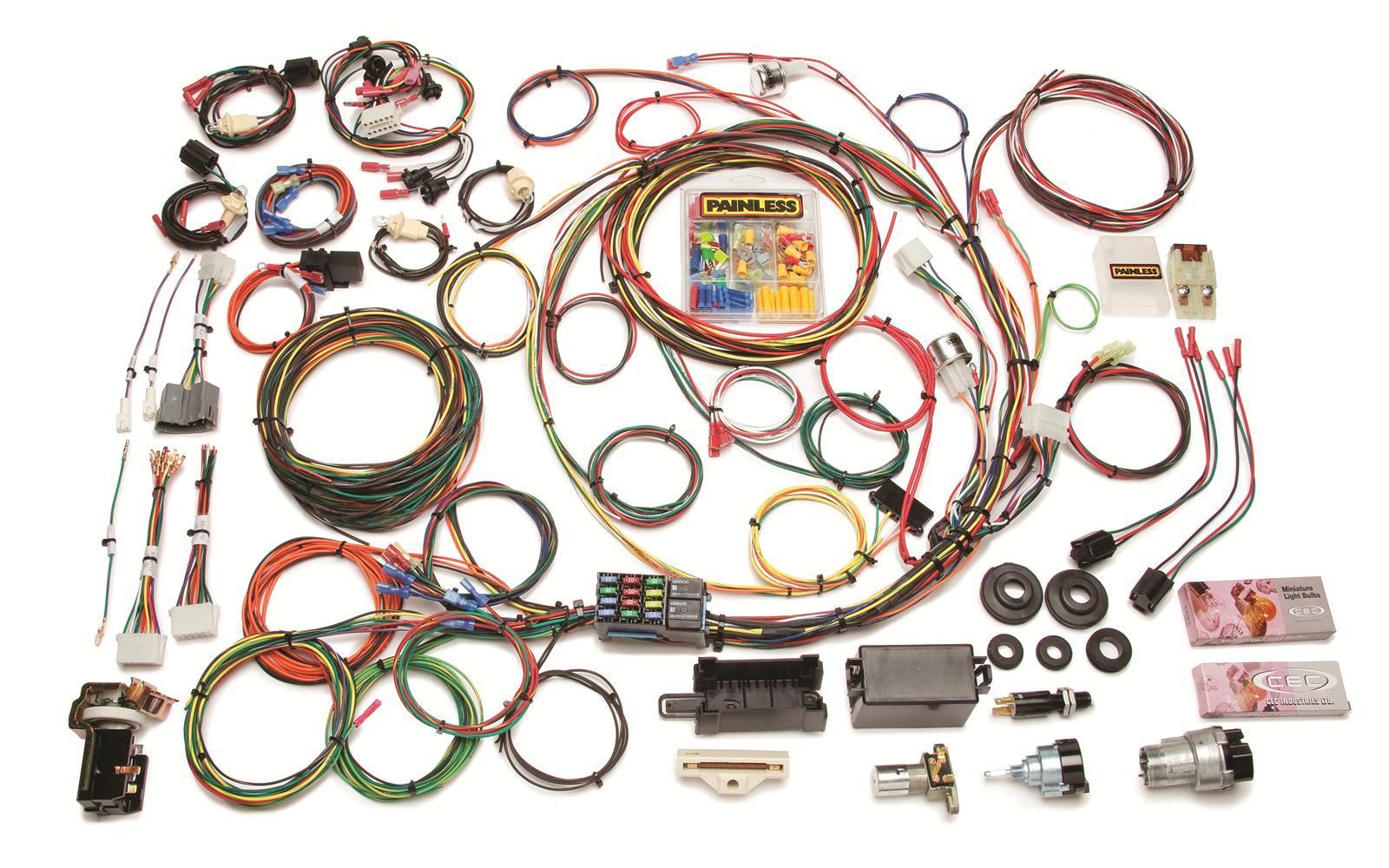 Universal Wiring Harness Instructions : Painless performance universal truck harness ebay