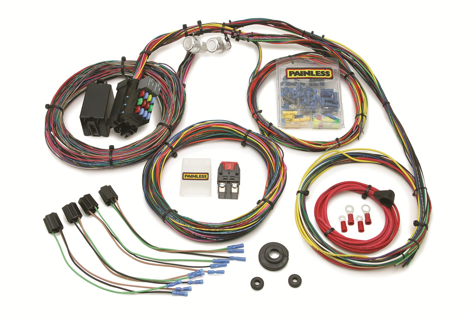 painless performance 21 circuit mopar color coded universal wiring harnesses 10127 18 Circuit Universal Wiring Harness