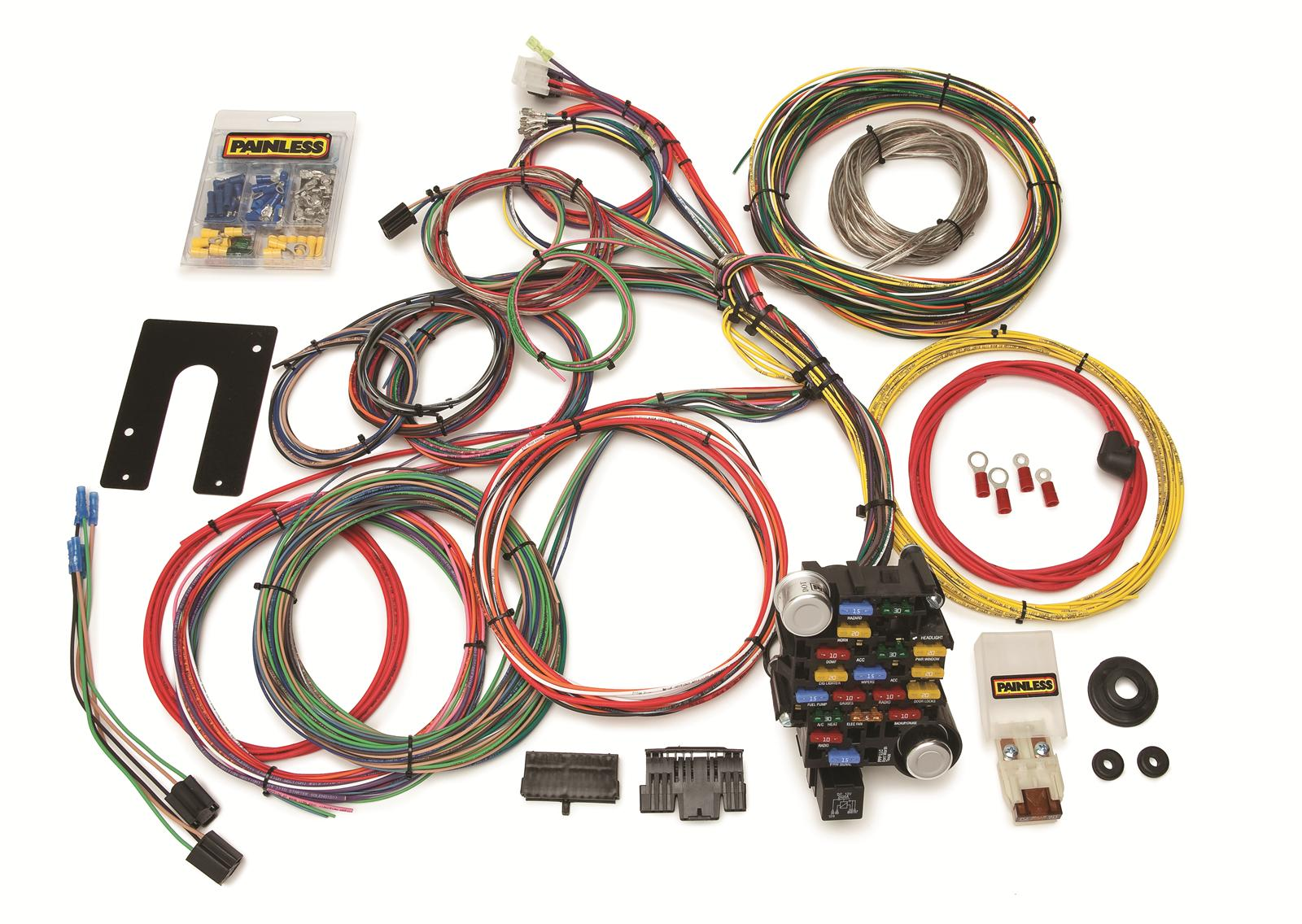painless performance 28 circuit universal harnesses 10201 free rh summitracing com GM Horn Relay Wiring Horn Relay Diagram