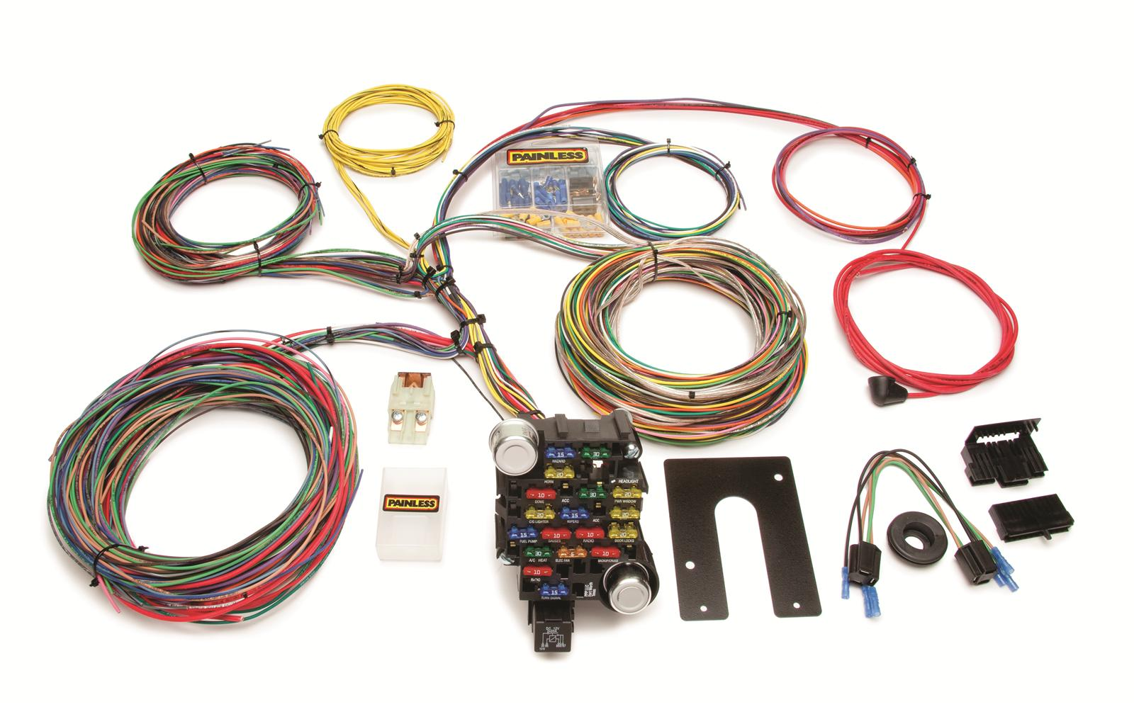 painless performance 28 circuit universal harnesses 10202 free rh summitracing com universal wiring harness ebay universal wiring harness diagram