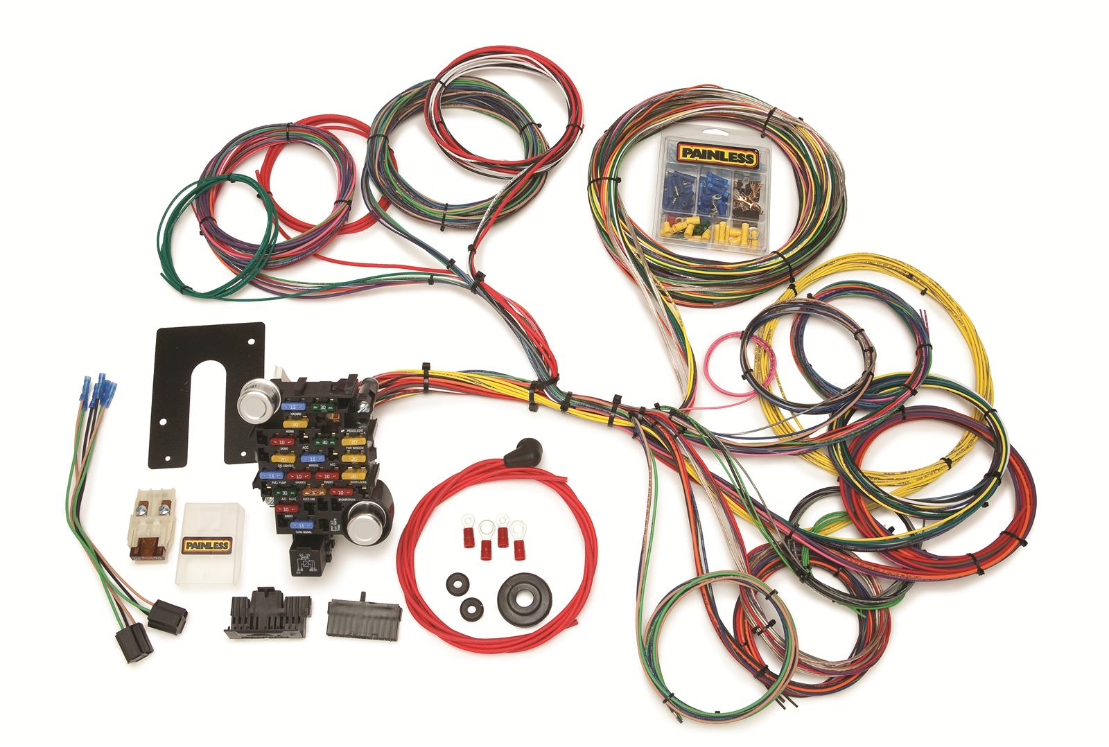 painless performance 28-circuit universal gm truck harnesses 10204 - free  shipping on orders over $99 at summit racing