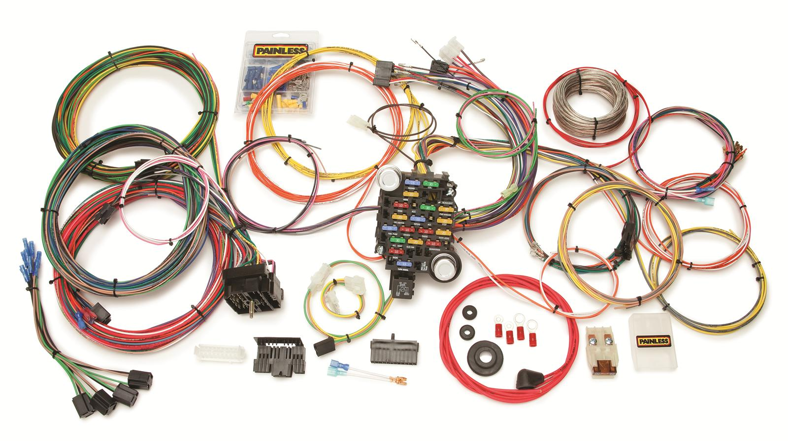 painless performance gmc chevy truck harnesses 10205 free shipping rh summitracing com 2004 chevrolet silverado wiring harness 2004 chevy silverado radio wiring harness diagram