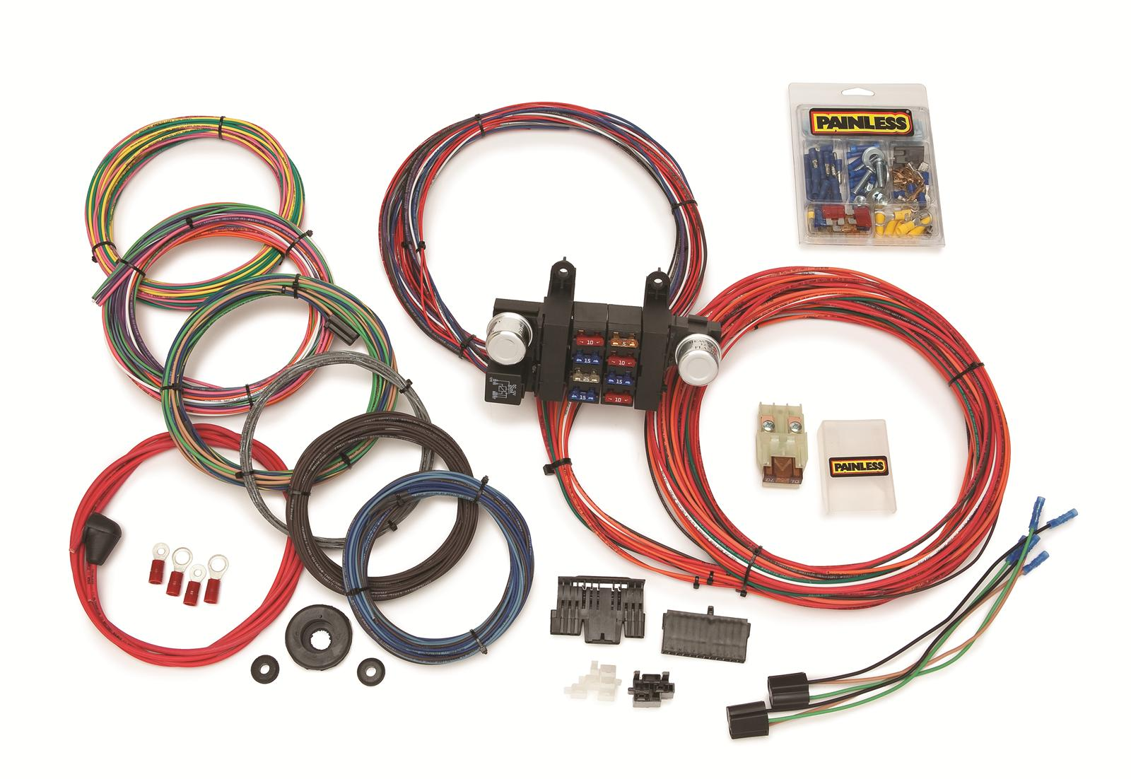 cj7 painless wiring harness painless wiring 10307 wiring harness 8-circuit front | ebay #15