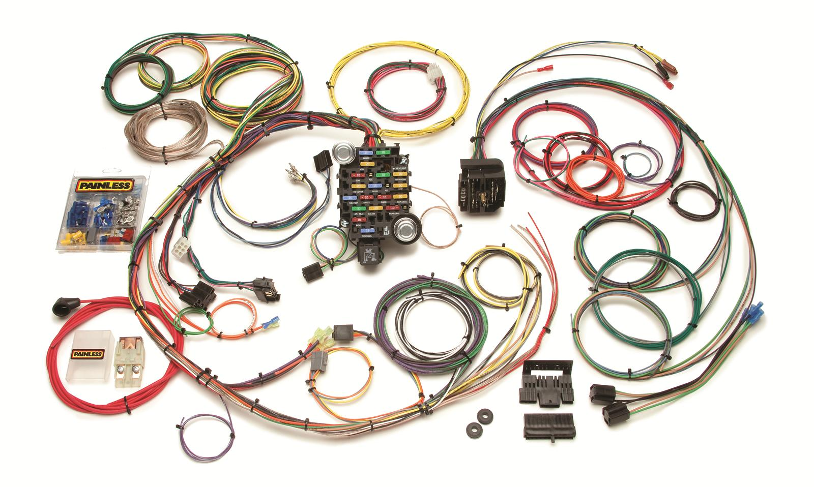 Painless Performance 24 Circuit 1967 68 Camaro And Firebird Wiring Kits Harnesses 20101 Free Shipping On Orders Over 99 At Summit Racing