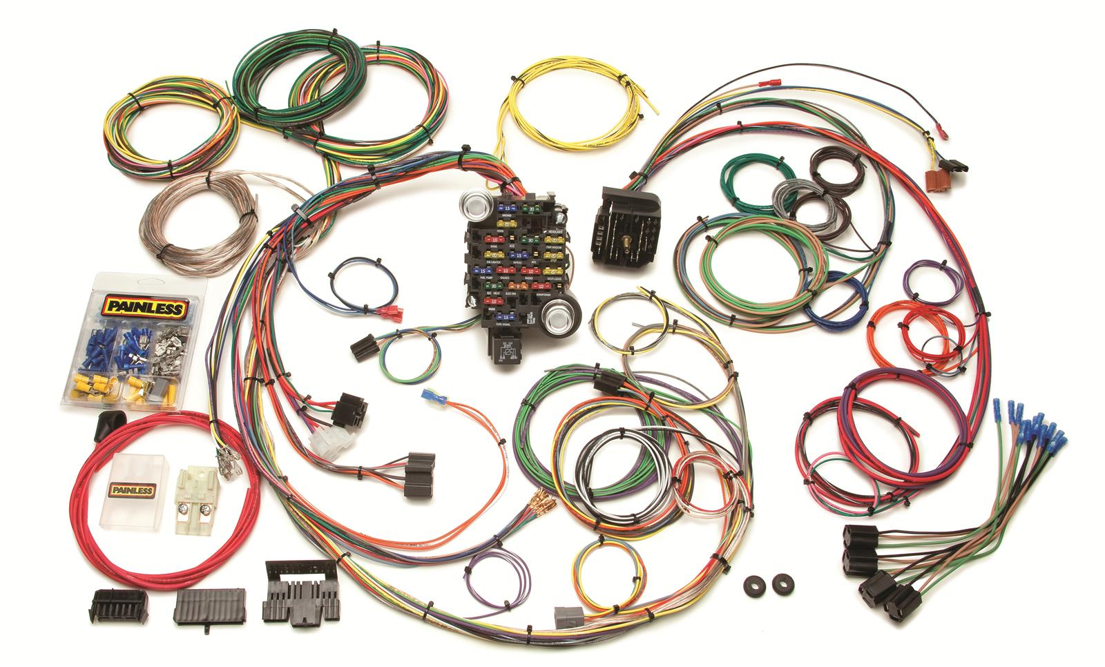 Painless Wiring Harness Chevy Content Resource Of Diagram Truck Engine Performance 25 Circuit 1969 74 Gm Muscle Car Harnesses Rh Summitracing Com
