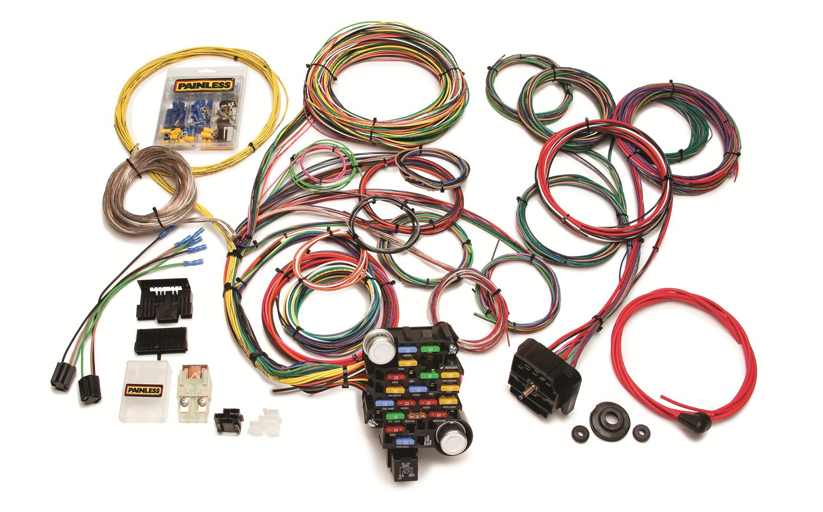 painless wiring 20104 wiring harness 18-circuit dash | ebay universal painless wiring harness diagram painless wiring harness racing