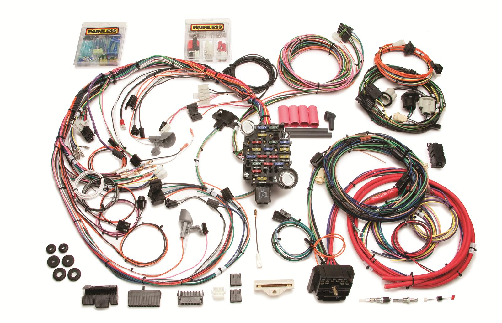 Painless Performance 26 Circuit 1970 73 Direct Fit Camaro Harnesses Wiring Harness And Chassis 20112 Free Shipping On Orders Over 99 At Summit Racing