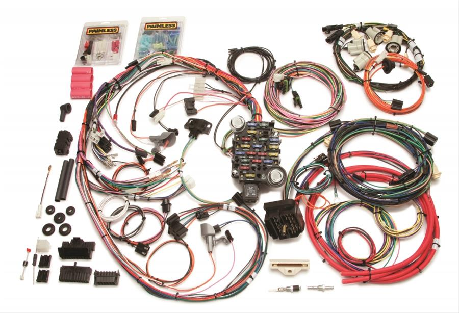 painless performance 26 circuit 1969 direct fit camaro harnesses rh summitracing com painless wiring harness ls painless wiring harness lt1