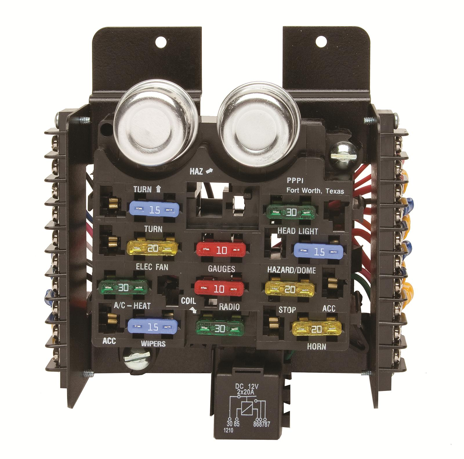 painless wiring 30001 fuse block 12-circuit universal kit ... paint a fuse box wiring a fuse box