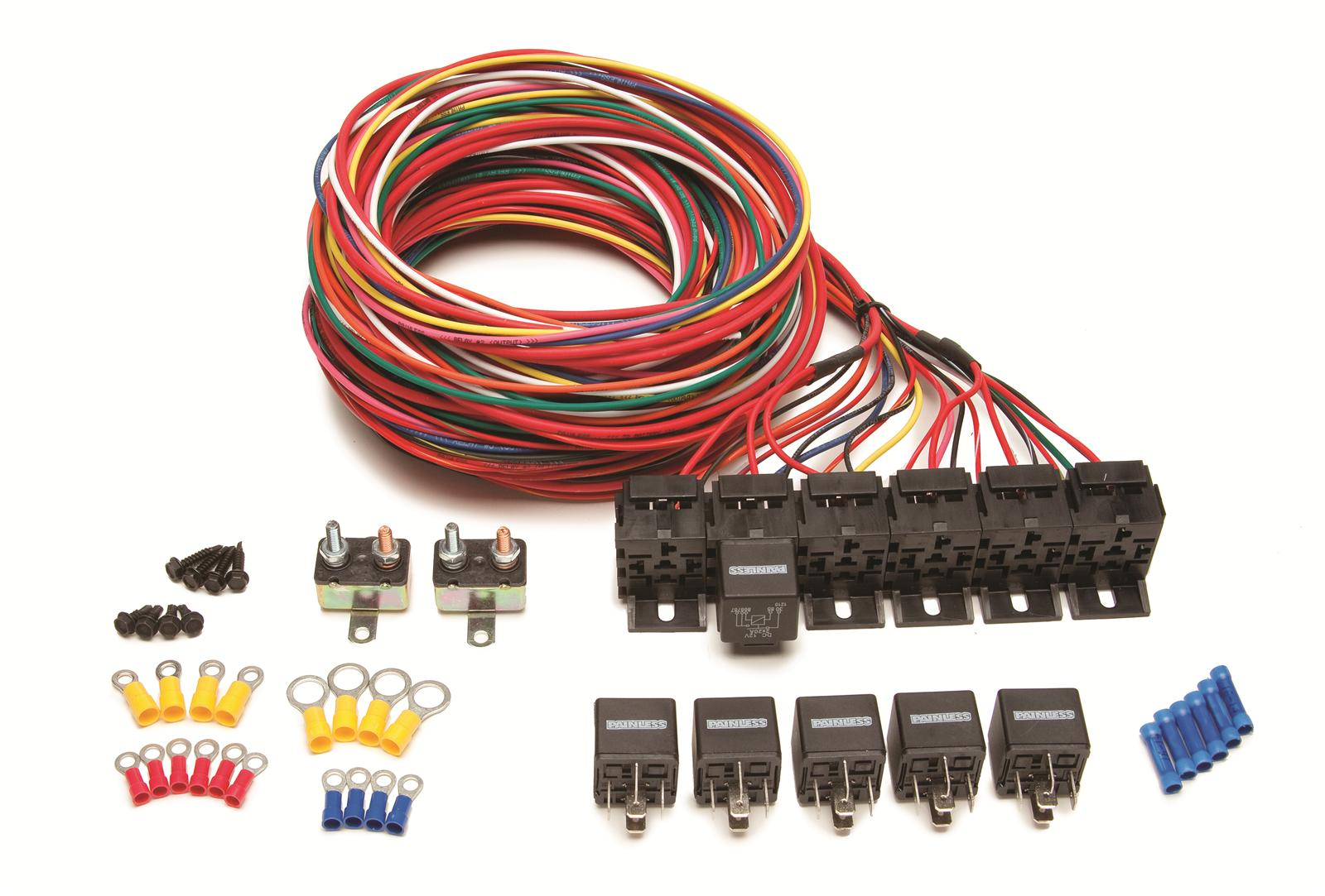 painless performance relays and relay kits 30108 free shipping on rh summitracing com Painless Wiring Harness Chevy Painless Wiring Harness Chevy