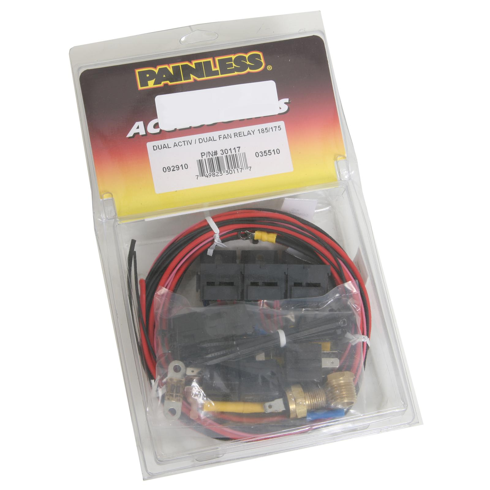 Painless Performance Dual Activation Electric Fan Relay Kits 30117 - Free  Shipping on Orders Over $49 at Summit Racing