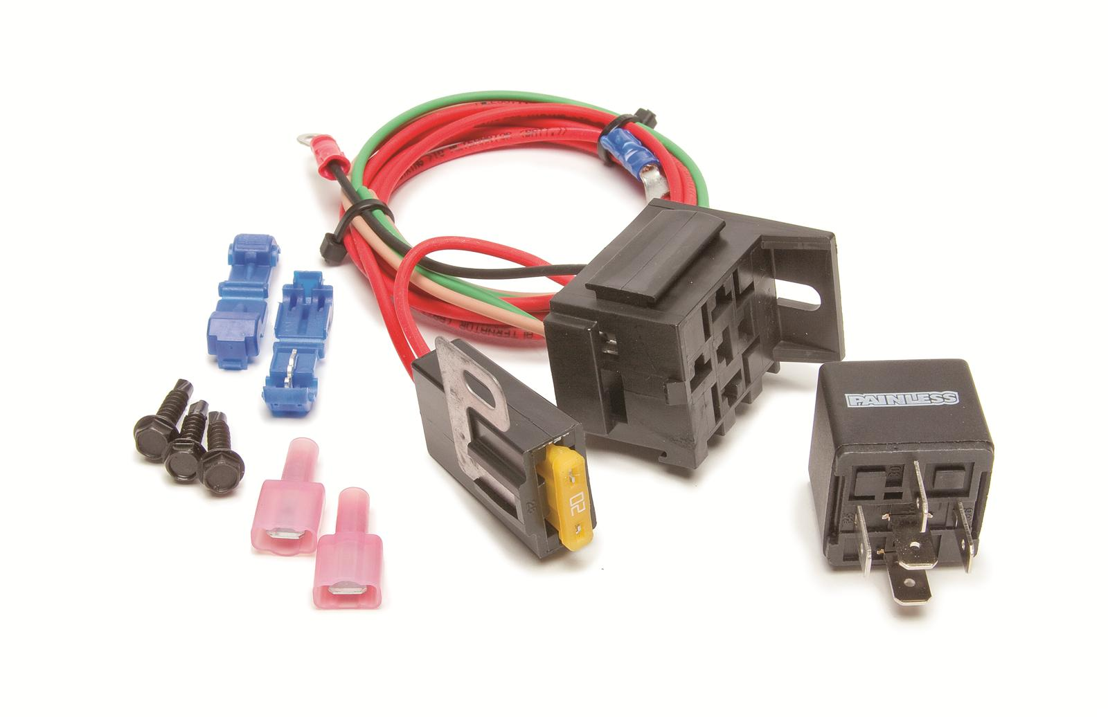 painless performance high-beam headlight relays 30802 - free shipping on  orders over $99 at summit racing