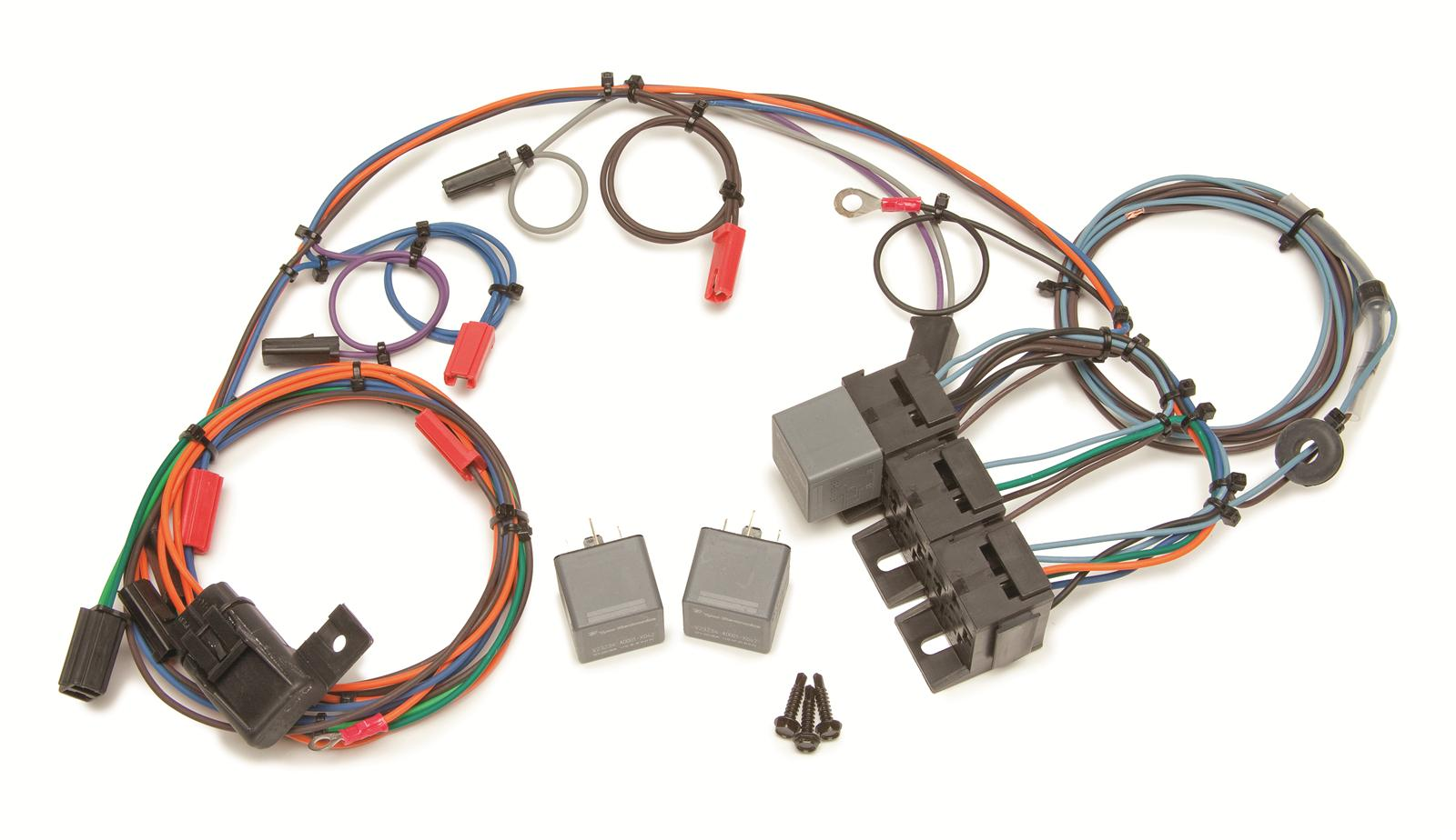 Camaro Painless Performance Headlight Door Wiring Harnesses 30818 20101 Fuse Box Free Shipping On Orders Over 99 At Summit Racing