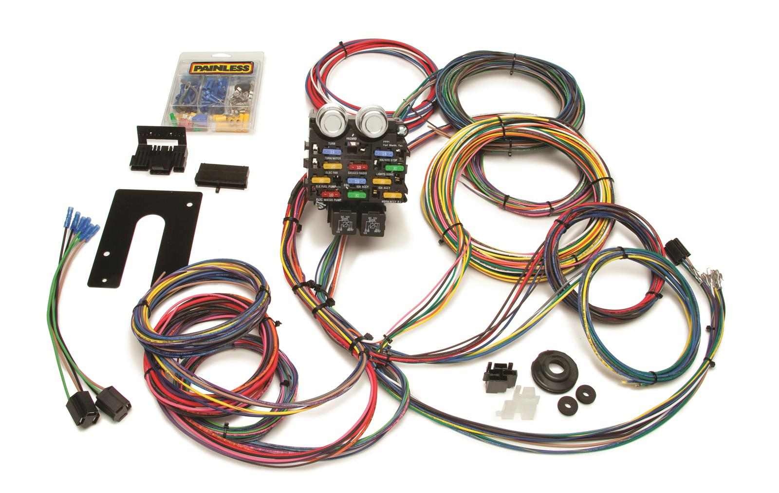 painless performance 21-circuit pro street chassis harnesses 50002 - free  shipping on orders over $99 at summit racing