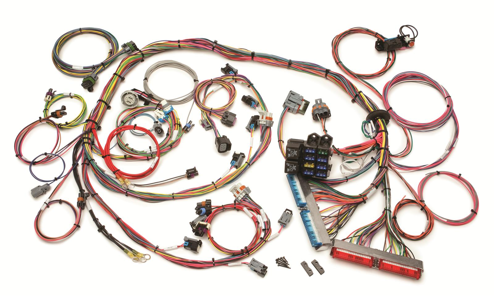 painless engine wiring harness engine swap front fuse ... 57 chevy under hood wiring harness chevy harness #14