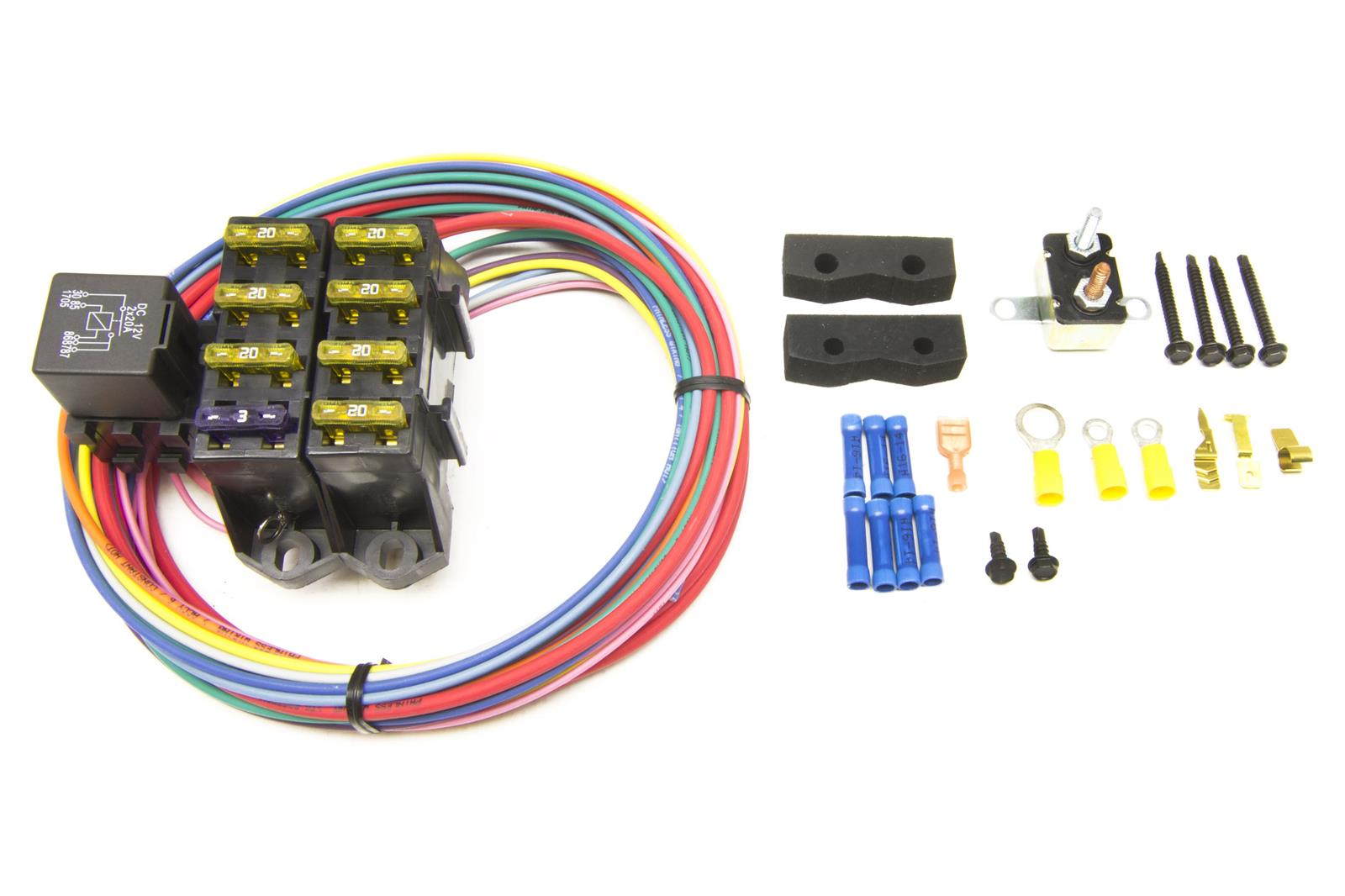 painless performance 70107 painless performance cirkit boss auxiliary fuse  block/7-circuit kits (3 constant/4 ignition 12 v) | summit racing  summit racing