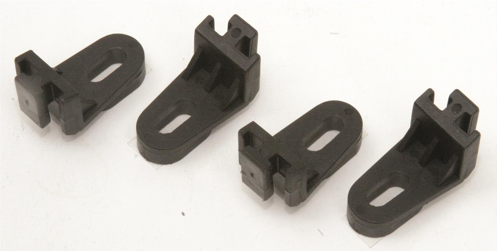 Fan Mounting Hardware : Perma cool electric fan mounting brackets nylon black set