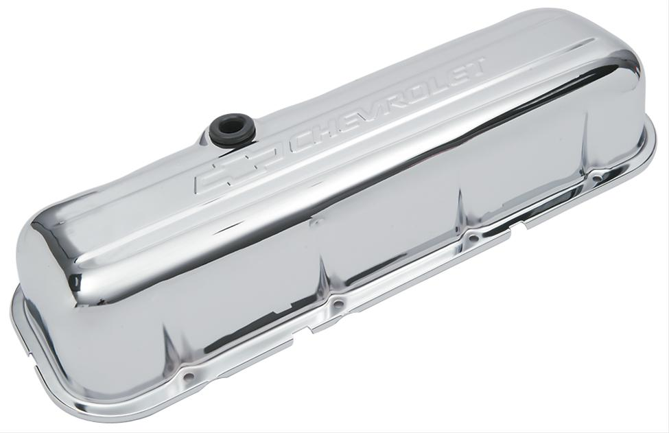 Proform 141-115 Big Block Chevy Stamped Steel Tall Chrome Valve Covers Pair