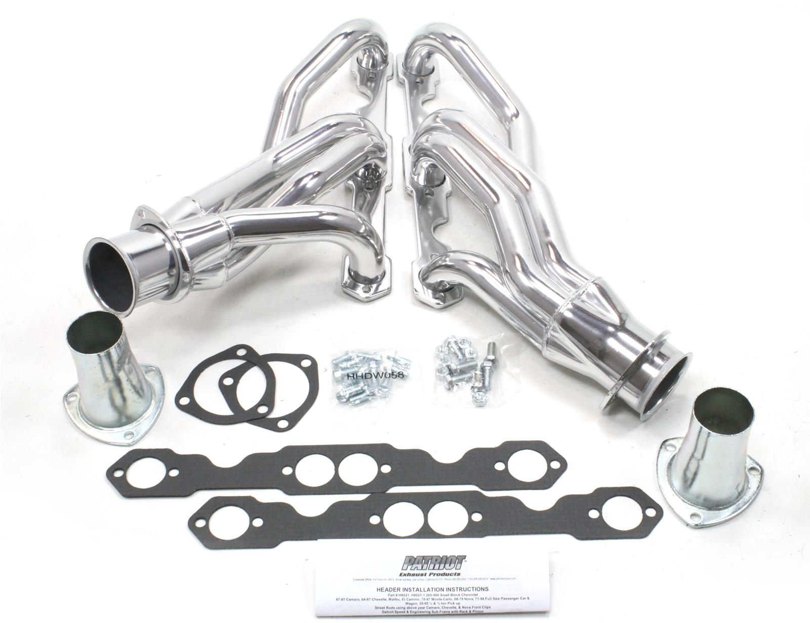 Patriot Clippster Headers H8021-1 - Free Shipping on Orders Over $99 at  Summit Racing