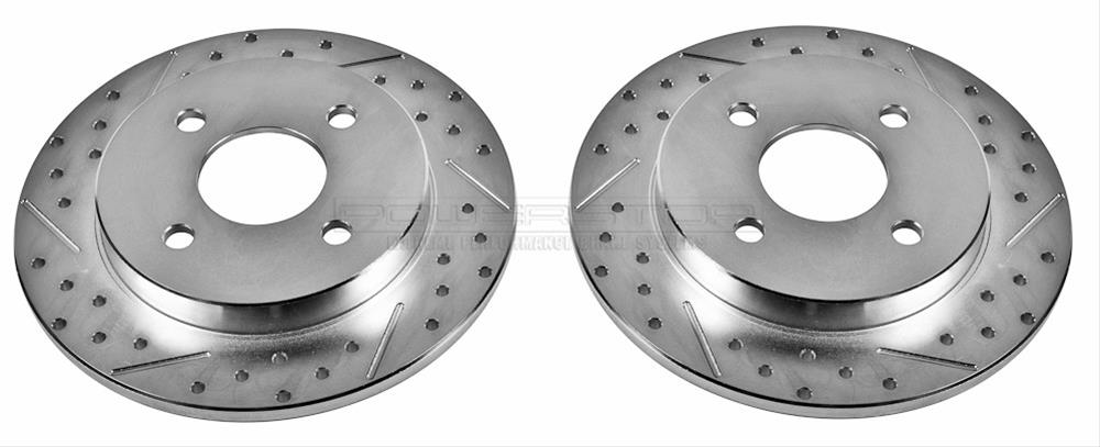 Power Stop AR8738XPR Front Evolution Drilled /& Slotted Rotor Pair