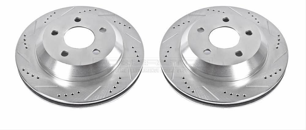 Power Stop AR8265XPR Rear Evolution Drilled /& Slotted Rotor Pair