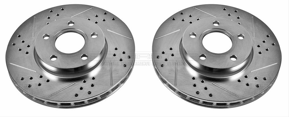 Power Stop AR85146XPR Front Evolution Drilled /& Slotted Rotor Pair