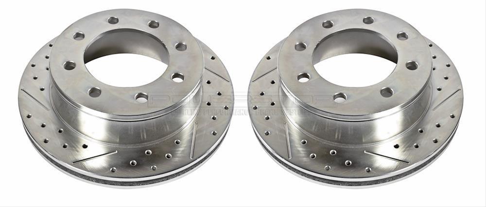 Power Stop AR8681XPR Rear Evolution Drilled /& Slotted Rotor Pair