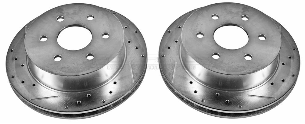 Power Stop AR8652XPR Rear Evolution Drilled /& Slotted Rotor Pair
