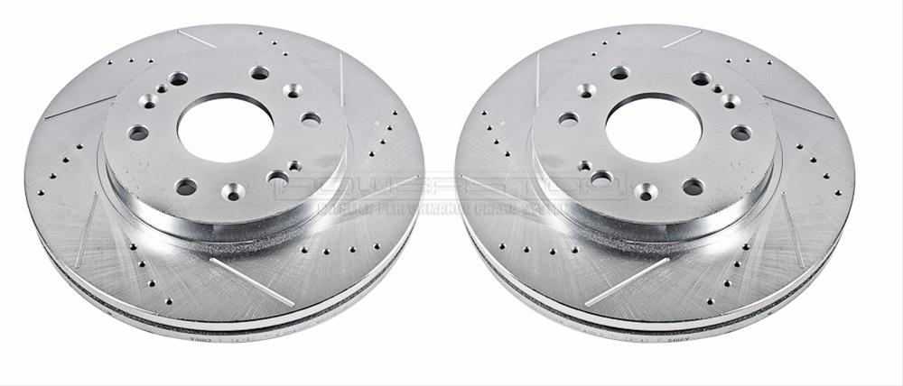Power Stop AR8645XPR Rear Evolution Drilled /& Slotted Rotor Pair