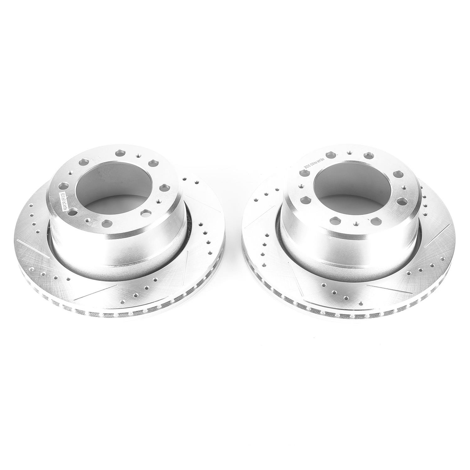 Power Stop AR83067XPR Drilled and Slotted Rear Brake Rotor Pair