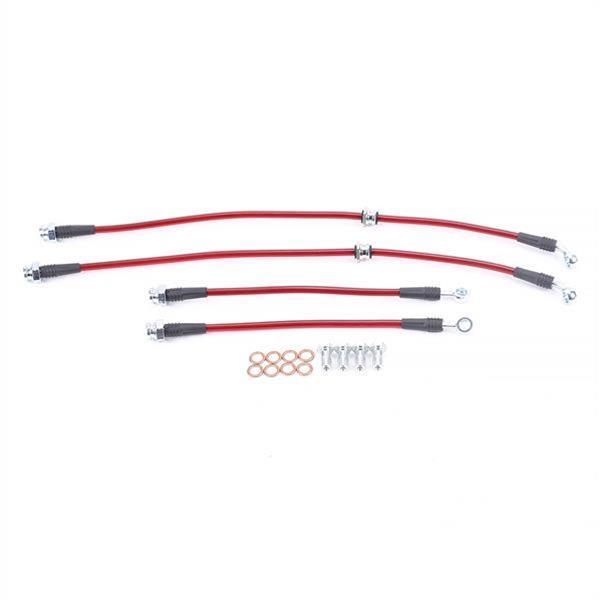 Transparent Purple Hose /& Stainless Banjos Pro Braking PBF7823-TPU-SIL Front Braided Brake Line