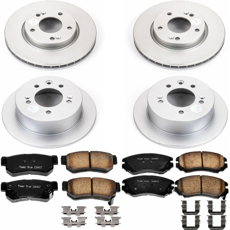 Power Stop CRK5291 front Z17 Evolution Geomet Coated Brake Kit