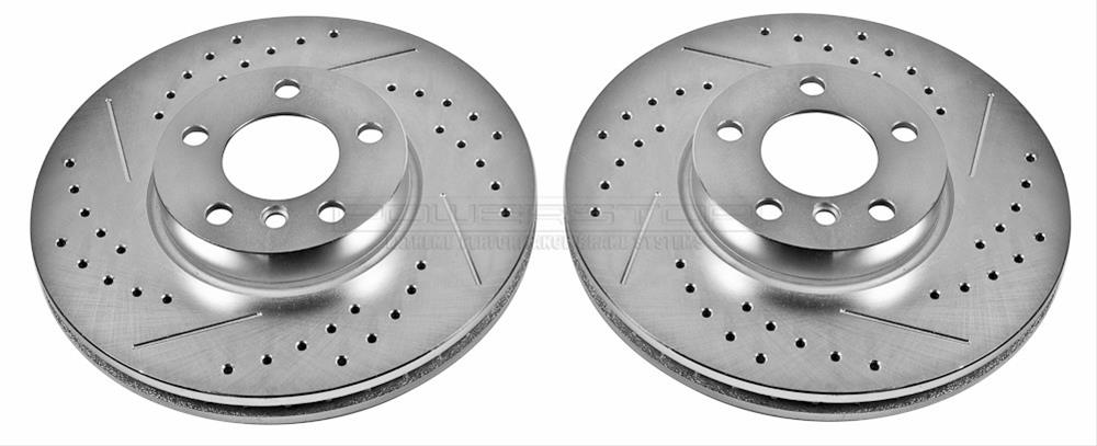 Power Stop EBR653XPR Front Evolution Drilled /& Slotted Rotor Pair