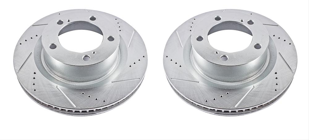 Power Stop JBR738XPR Rear Evolution Drilled /& Slotted Rotor Pair