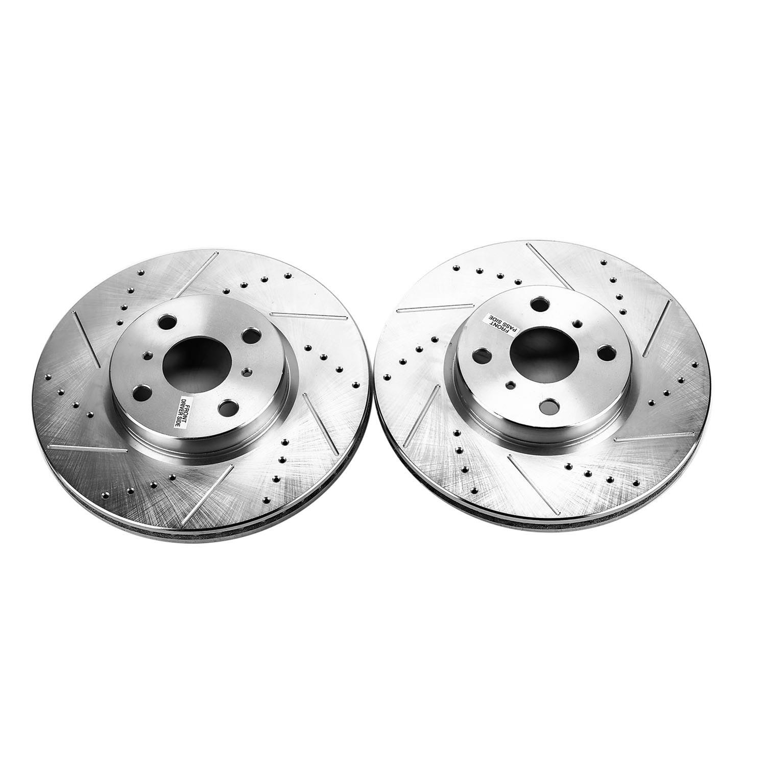 Power Stop AR8600XPR Front Evolution Drilled and Slotted Rotor Pair