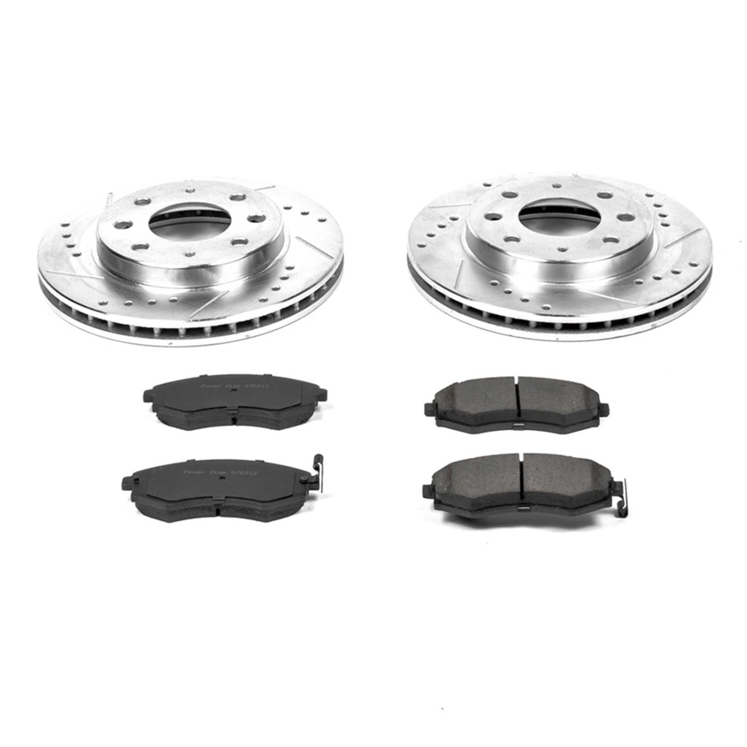 Stoptech 937.45015 Street Axle Pack Slotted Front