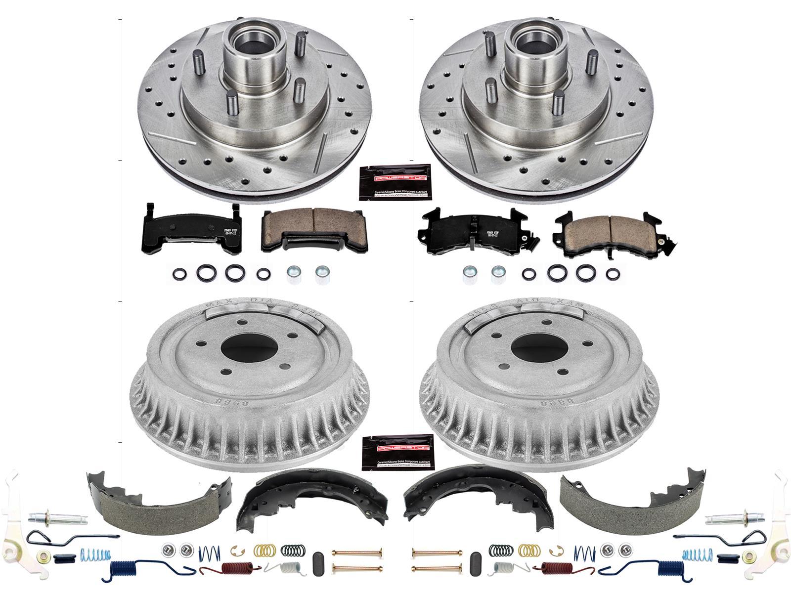 Power Stop K15240DK Z23 Evolution Sport Front /& Rear Brake Kit Brake Rotor and Carbon-Fiber Ceramic Brake Pads