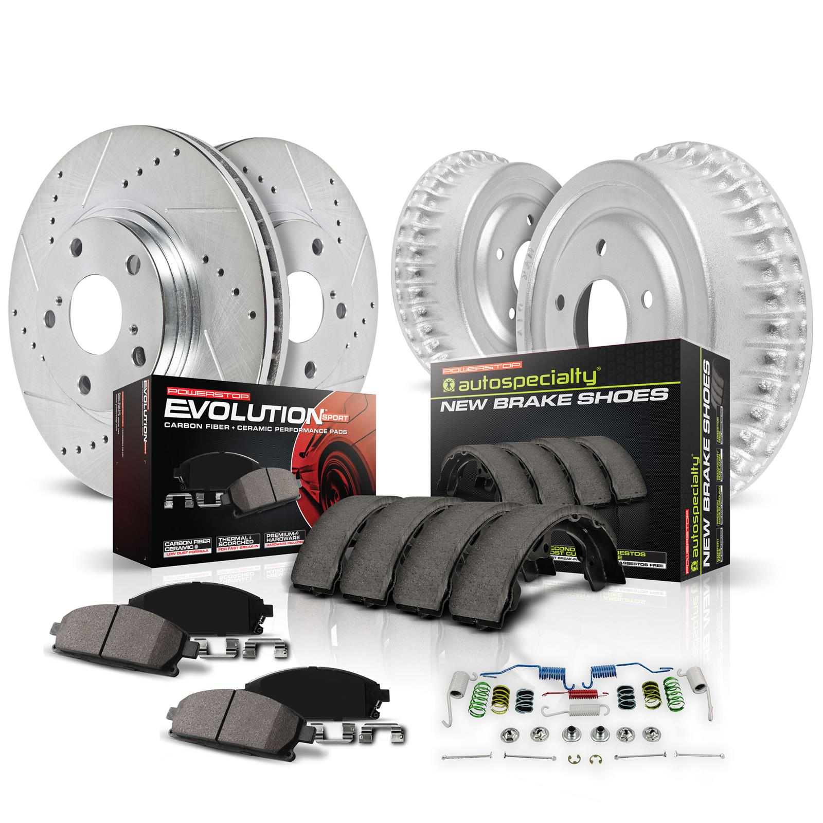 Metallic Pads /& Brake Drums Disc Brake Rotors Shoes For Jeep Liberty