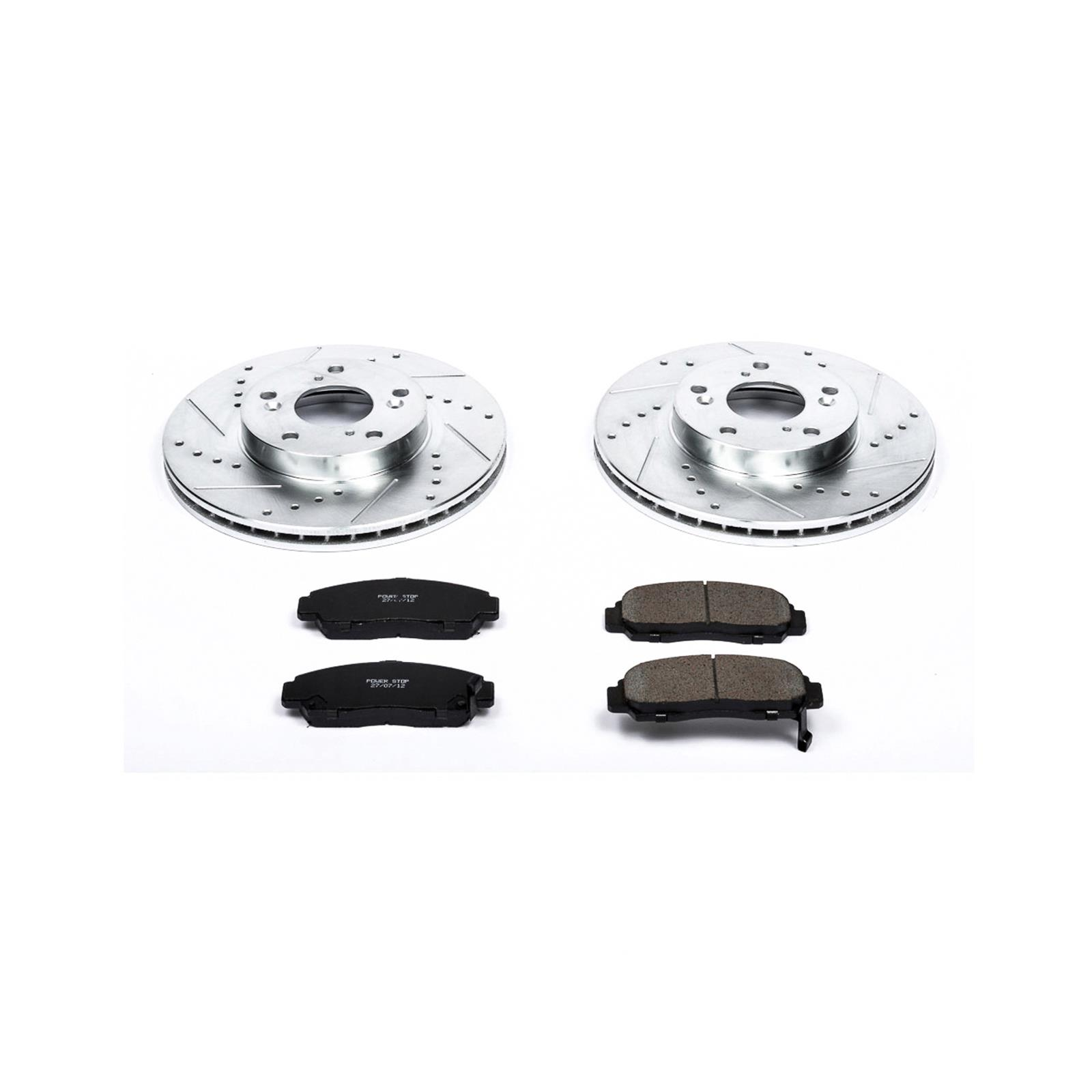 Details about Brake Rotors/Pads Cross-Drilled/Slotted Iron Zinc Dichromate  Plated Kit