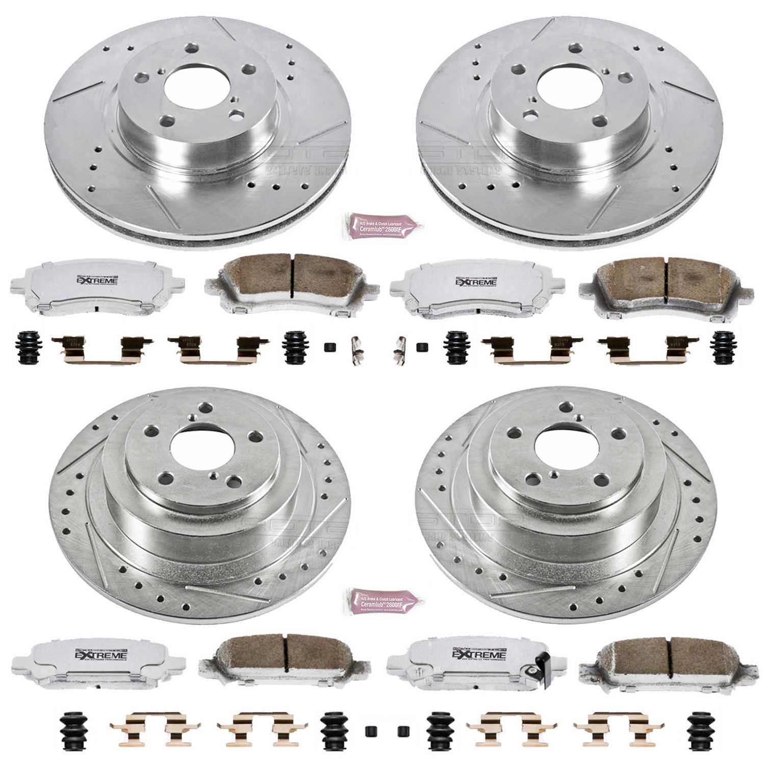 Power Stop K1120-26 Front Z26 Street Warrior Brake Kit Subaru