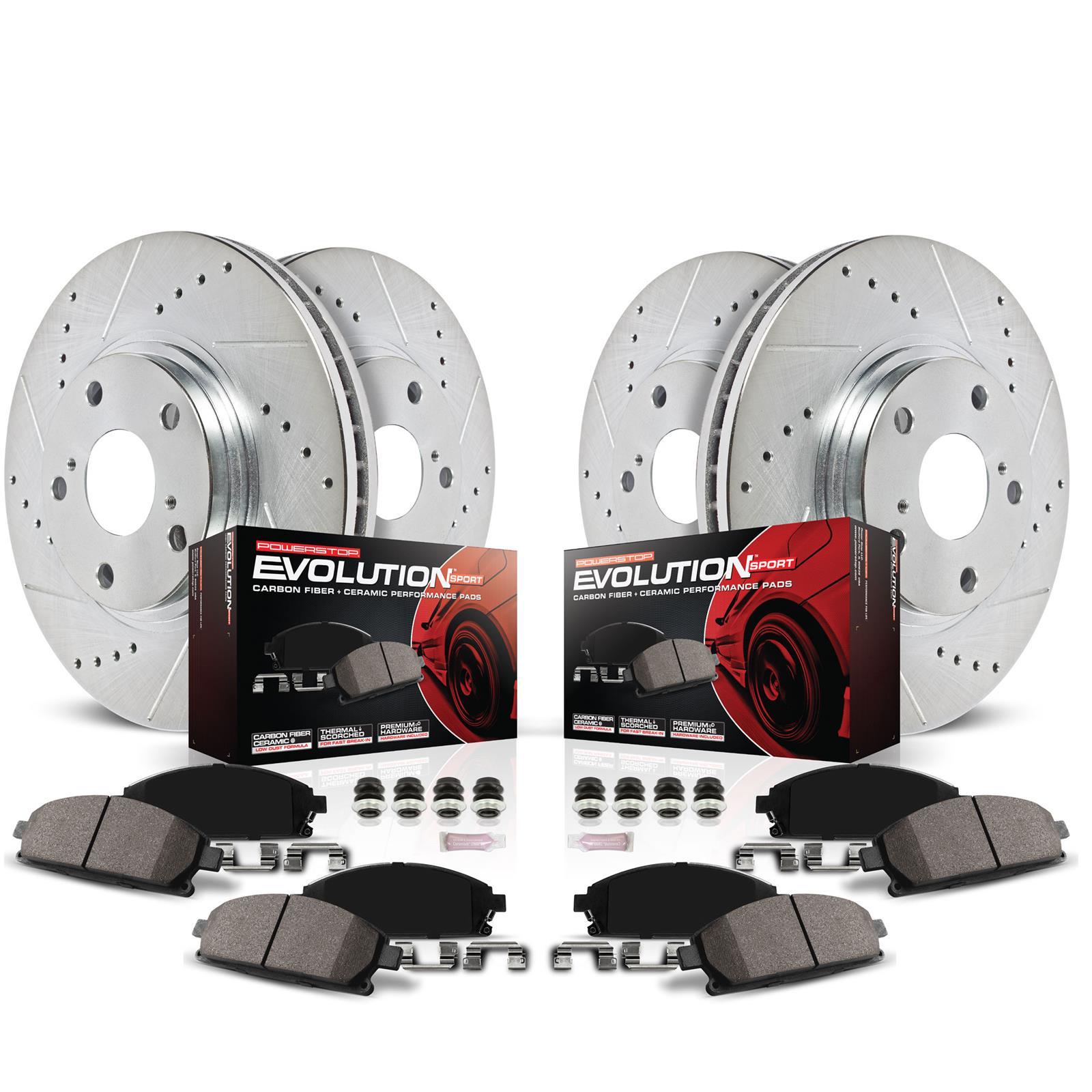 Power Stop Z23 Evolution Sport Brake Upgrade Kits K4145 Free