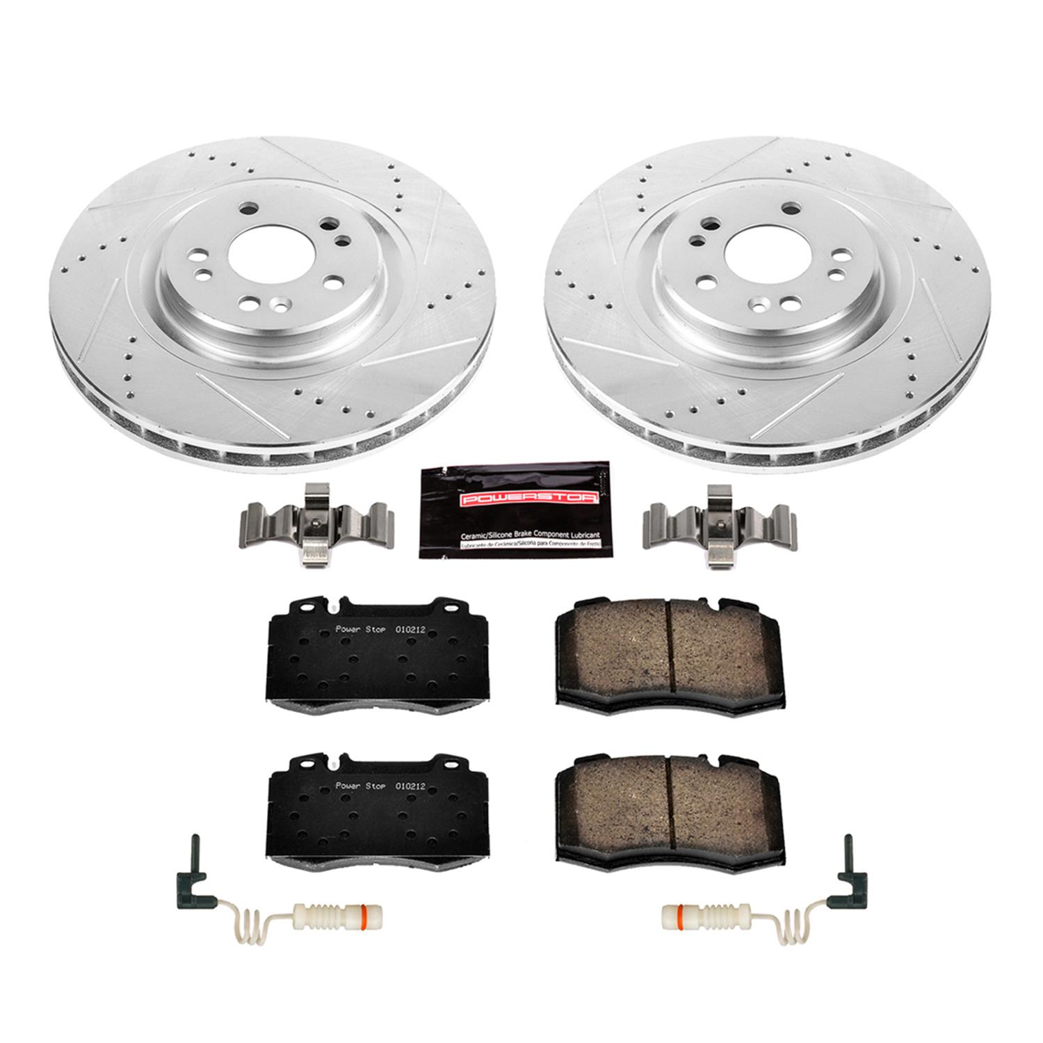 Power Stop K5913 Front Z23 Evolution Kit with Drilled//Slotted Rotors and Ceramic Brake Pads