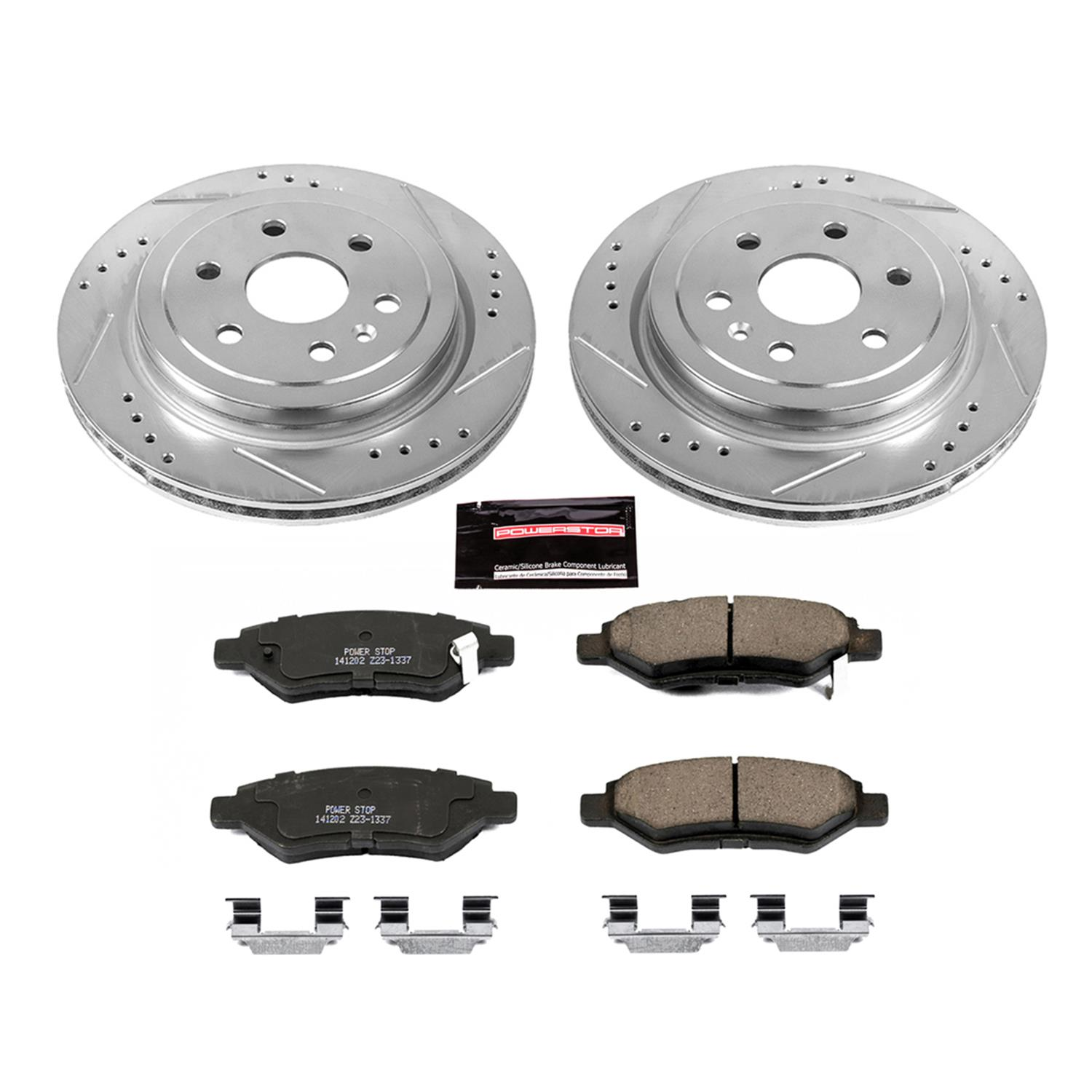 2010 2011 Cadillac SRX Disc Brake Rotors and Free Pads Rear