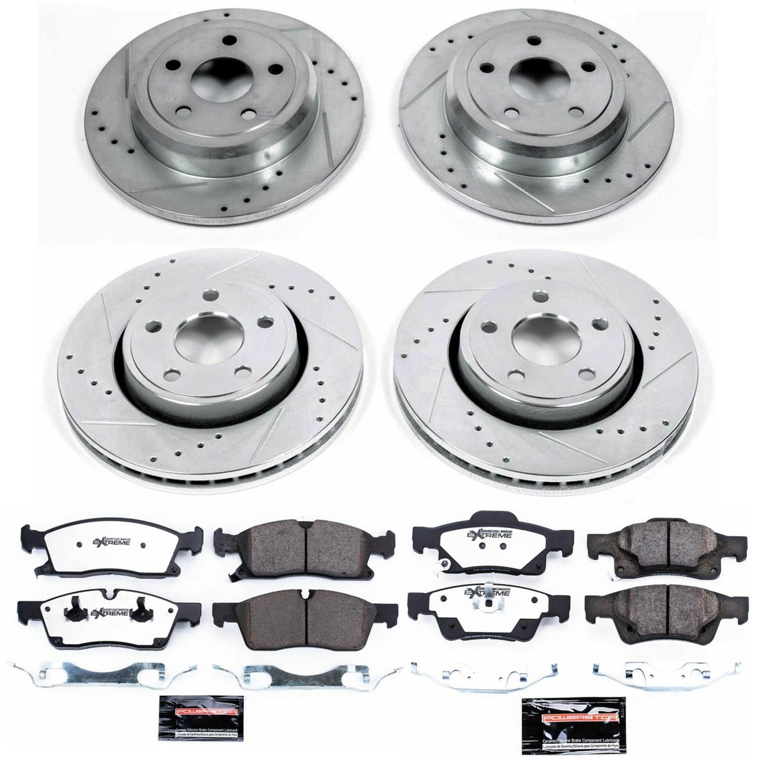 Powerstop 2-Wheel Set Brake Disc and Pad Kits Rear New for Jeep K5950
