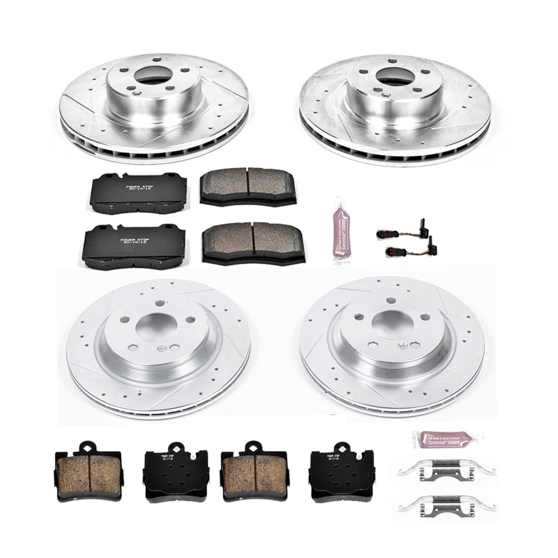 Power Stop K8064 Front /& Rear Z23 Evolution/Sport Brake Upgrade Kit /