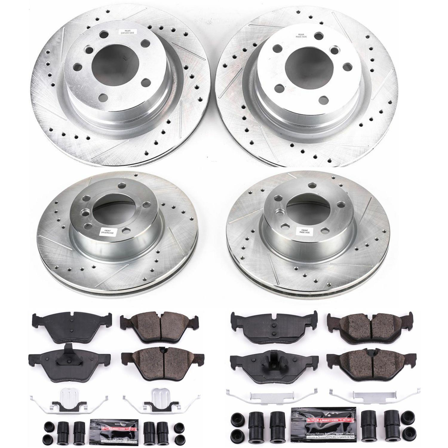 Drilled and Slotted StopTech 928.40055 Select Sport Axle Pack Front